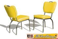 CO26 JAUNE BEL AIR Meuble 2 chaises dîner de cuisine dans le style 50er ans USA