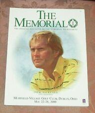 2000 MEMORIAL TOURNAMENT PROGRAM - Jack Nicklaus Cover - Jack Nicklaus - Golf