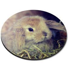 Round Mouse Mat  - Cute Baby Bunny Rabbit Pet Animal  #44752