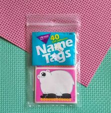 Vintage Name Tags Polar Bear on Roller Skates Self Adhesive 40 Tags Never Opened