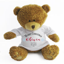 Personalised Christmas Teddy Bear - Soft Toy Large / Stocking Filler / Snowflake