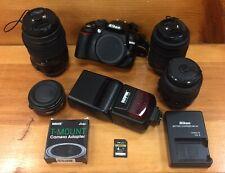 Nikon D3100 Digital SLR Camera - Black - Multiple Lens Included