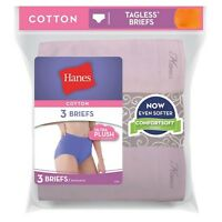 Hanes Women's Cotton Briefs - D40LAS -- BUY TWO PACKS GET ONE FREE