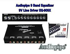 Eq-909X Car Equalizer with 9 Band Graphic Equalizer - Aux inputs - 9V Driver