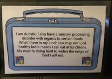 Children's Lunchbox Autism Awareness Sign, School, Communication! Non-verbal