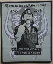 motorhead lemmy tribute patch :  missprinted !!! Limited Edition