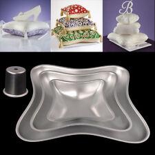 Lot de 3 Cake Tins-Oreiller/Coussin Forme Gâteau Baking Pan alliage d'aluminium moule