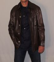 Cortifeil Made in Spain Men's vintage leather shirt jacket coat 40