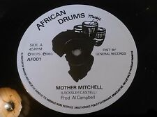 "LACKSLEY CASTELL - MOTHER MITCHELL / NUMBER ONE 12"" AFRICAN DRUMS AL CAMPBELL"