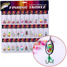 Sougayilang Fishing Spinner Spoon Lures Rotatable Inline Bass Trout Fishing 30pc