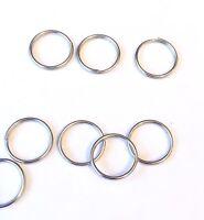 10mm x 100 Pieces Silver Metal split Rings/Jump Rings for Keyrings....UK SELLER