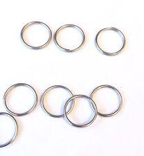 10mm X 100 Piezas de Metal Plata Anillos De Split/Jump Anillos Para Llaveros.. vendedor del Reino Unido