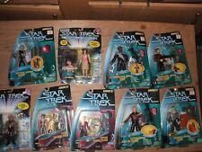 LOT of 9 STAR TREK TNG NEXT GENERATION Action Figures Ships free
