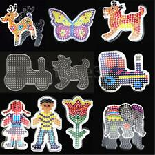 9PCS Set Clear Perler Peg Board Pegboard Template Funny Beads DIY Toy Craft Gift