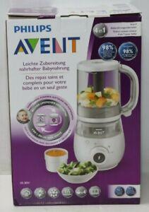 Philips Avent 4-in-1-Babynahrungszubereiter SCF883/01, Dampfgaren und Mixen