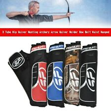 New listing 3 Tube Hip Quiver Hunting Archery Arrow Quiver Holder Bow Belt Waist Hanged YU