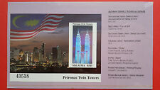 1999 Malaysia Imperforated Miniature Sheet - Petronas Twin Towers