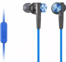 Sony MDR XB50AP Extra Bass In-Ear Headphones with Mic-Blue-Free Shipping