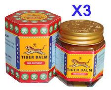 3 pots de 30g Baume du tigre rouge, (Tiger balm red 30g) Envoi par avion