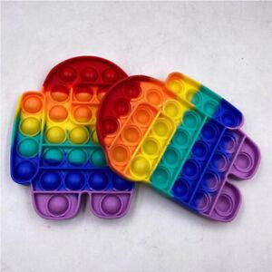 Among Us Push Pop Bubble it Fidget Sensory Toy Stress Relief Kids Toys Tiktok☀️