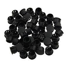 """9/16"""" Dia Head Plastic Locking Hole Plugs Black 50 Pcs LW"""