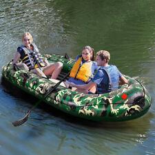 Kayaking Inflatable 3-4 Person Floating Boat Raft Set w Oars Air Pump Cruising