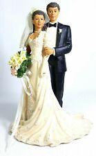Westland African American Bride & Groom Figurine Music Box Endless Love 1996
