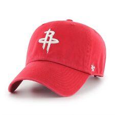 Houston Rockets '47 Brand NBA Strapback Adjustable Dad Cap Hat Clean Up