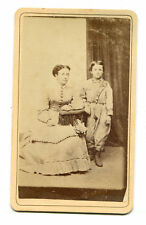 MOTHER AND YOUNG SON. BOYS OUTFIT INTERESTING. CDV. UTICA, N.Y.