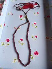 Stringa di autentica TERRA estratto Granato Sfaccettato Perline Collana di Preghiera? 489-4