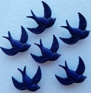 NAVY BIRD Craft Buttons Swallow Blue Nautical Tattoo Sailor Novelty Dress It Up