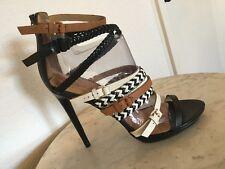 "L.A.M.B ""Jessie"" Strappy Multicolor Leather High Heel Sandal US Wm Sz 10M"