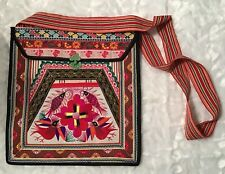 Vintage Handmade Ethnic India Crossbody Bag Embroidered Lined - New & Beautiful!