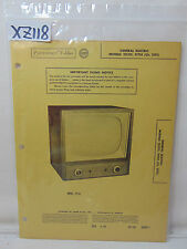 SAMS PHOTOFACT FOLDER MANUAL & SCHEMATIC TV GENERAL ELECTRIC 21C115 21T14 21TF