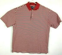 Callaway Mens Red White Golf Shirt Size Large #A205