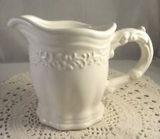 JC Penny China Creamer VINTAGE IVORY Pattern Creamy White Excellent Condition