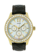 Guess W15512L1 Women's Mother of Pearl Swarovski Day Date 24 hr Analog Watch