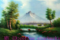 ZWPT1295 100% handmade painted landscape river view oil painting art on Canvas