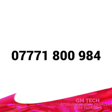 07771 800 984 EASY MOBILE NUMBER PAY AS YOU GO SIM CARD UK GOLD PLATINUM VIP