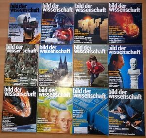 12x Bild der Wissenschaft 1979 1-12 Jahrgang Sammlung Zeitschrift Science Hefte