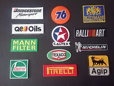 SET OF 12 MOTOR RACING MOTOR SPORT GOODWOOD SEW / IRON ON PATCHES:- SELECTION A