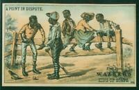 1880's Victorian Trade Card, H804-5, 1, Black Players, A Point In Dispute