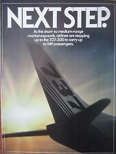 4/1982 PUB 3 PAGES BOEING 737-300 737-200 AIRLINER AIRLINES PASSENGER COCKPIT AD