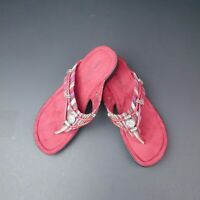 Minnetonka RAZ Sandals Red Size 6