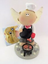 Angel Cheeks Master Grill Chef Figurine Russ Berrie tag free gift bag new