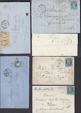 FRANCE 1850s 60s COLL OF 6 CLASSIC COVER FRANKE NAPOLEON ISSUES PERF & IMPERF