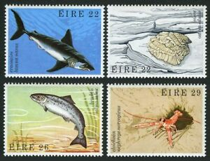 Ireland 525-528,MNH.Michel 472-475. 1982.Porbeagle shark,Oyster,Salmon,Bay prawn