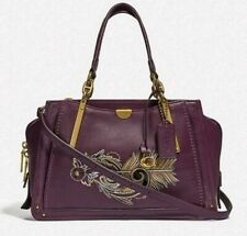 NWT COACH 36914 PLUM SMOOTH LEATHER DREAMER WITH TATTOO