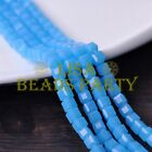 25pcs 6mm Cube Square Faceted Crystal Glass Loose Spacer Beads Jade Lake Blue