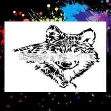 Wolf 01 Airbrush Stencil,Template